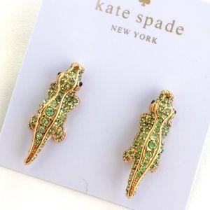 Kate spade crocodile crystal earrings